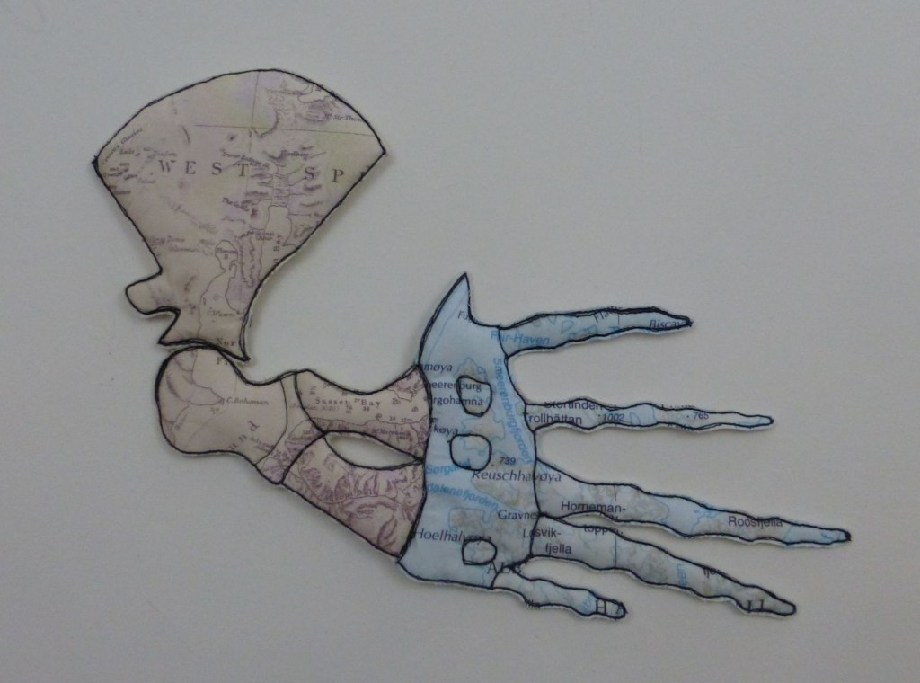 Right Whale. Left Flipper by Caroline Hack - a mixed media artist