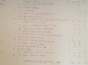 My transcription of a page of 1786 Whaler Disko Bay Account book from Northumberland Archives
