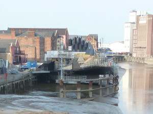 Scale Lane Bridge, Hull. Under construction 2012