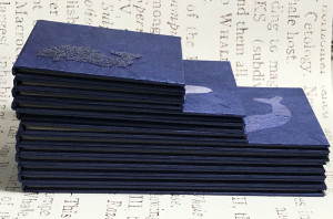 Cetology - 12 handmade books based on Herman Melville's whale classification from Moby Dick