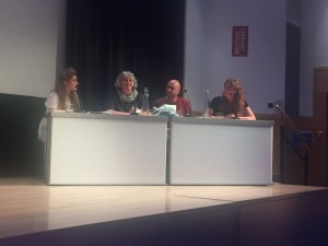 Caroline Hack, 2nd left, on the panel at Looking for Melville at the British Library