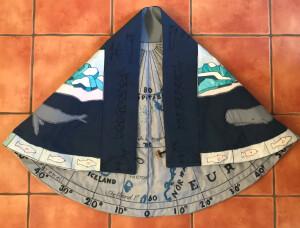 Whaler cloak Arctic side folded